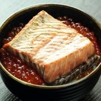 鮭の焼漬親子丼